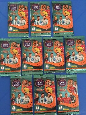 FIFA 2018 Road To Russia Adrenalyn XL Official Trading Cards 10 Pack Bundle