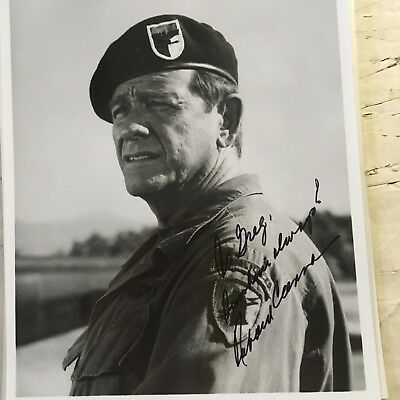 Richard Crenna signed and inscribed photograph Rambo First Blood