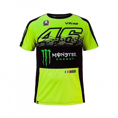 2017 OFFICIAL Moto GP VR46 Valentino Rossi MONSTER T-Shirt Yellow MENS - NEW