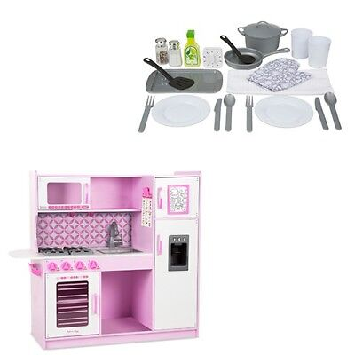 Melissa And Doug Charcoal Chefs Kitchen With Accessory Play