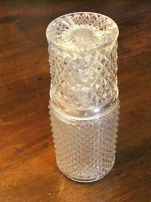 """Service night 19th """"glass water"""" crystal cast of Baccarat"""