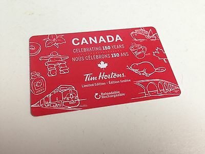 TIM HORTONS Gift Card ZERO $ BALANCE, CANADA 150 YEARS, No Value, 2017