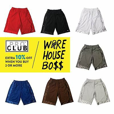 Proclub Pro Club Mens Basketball Shorts Casual Mesh Shorts Heavy-Weight Hip Hop