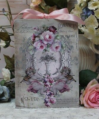 """""""Romance..."""" ~ Shabby Chic Vintage French Country Cottage style Wall Decor Sign"""