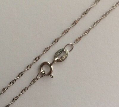 "925 Sterling Silver Italy 16"" Inches 40cm Diamond Cut Singapore Chain Not Scrap"