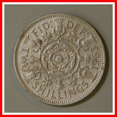 1963 Great Britain Two Shilling Coin UK England