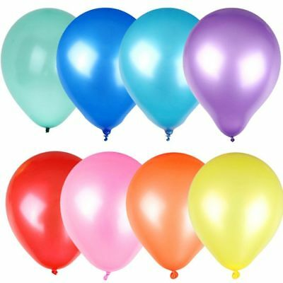 "100 X 10"" Latex Party Balloons  Air Helium Christmas Wedding Birthday Supplies"