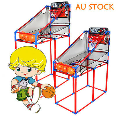 Arcade Basketball Game Toys Kids Indoor Outdoor Fun Air Pump Ball Ring Hoops A
