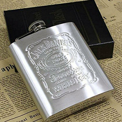 7 oz Stainless Silver Hip Liquor Whiskey Alcohol Pocket HipFlask Supply Portable