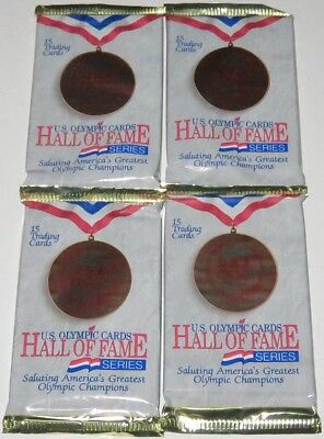 1991 Impel USA Olympic Cards Hall of Fame Series 4-Pack Lot Brand New & Sealed