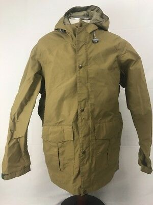 Eddie Bauer Mens Jacket Sz L Hooded Gortex Snow Water Resistant Vtg Khaki Brown