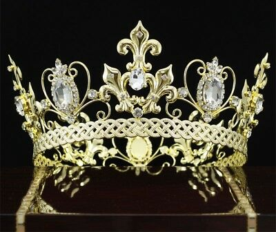 ecb2d9e2d2fec4 Men King Crown Homecoming Accessories Full Circle Round Gold Color Tiara  CT1829