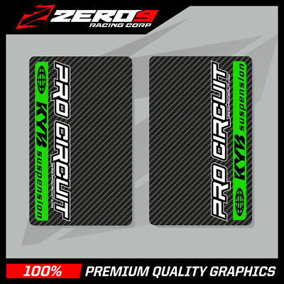 Kyb Upper Fork Decals Motocross Graphics Mx Graphics Procircuit Carbon Green