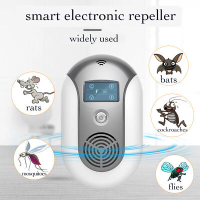 NEW Smart Pest Repeller Ultrasonic Wave Electronic Repeller Rats, Bats, Mosquito