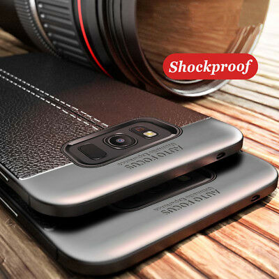 For Samsung Galaxy A3 A5 A7 2017 Slim Shockproof Rubber Back Bumper Case Cover