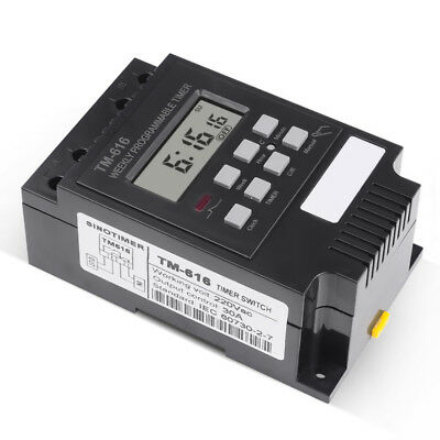 Digital LCD Programmable Timer 220V AC DIN Rail Time Relay Switch Power 1'