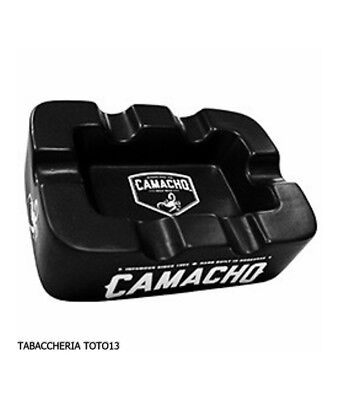 Camacho cigar ashtray in black ceramic