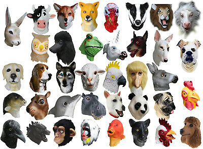 MASCARELLO Realistic Animal Head Pet Bull Dog Pug Ocean Sea Fish Tank Latex Mask
