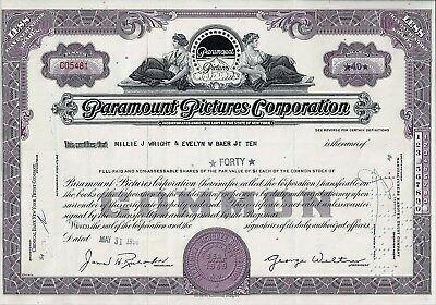 Paramount Pictures Corporation, New York, 1966 (40 Shares)