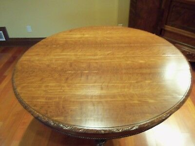 "Restored Antique Belgium Oak Table 51"" x 31"""