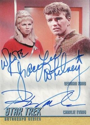 Star Trek ToS H & V Grace Lee Whitney & Robert Walker DA8 Dual Auto Card
