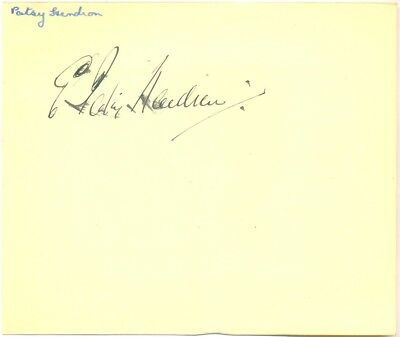 Patsy Hendren signed autograph album page English cricketer/footballer Man City