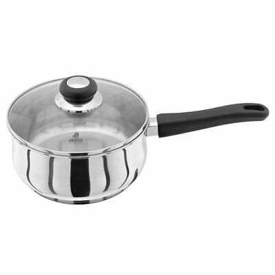 Judge Vista 20cm Stainless Steel Induction Saucepan 2.1L with Glass Lid