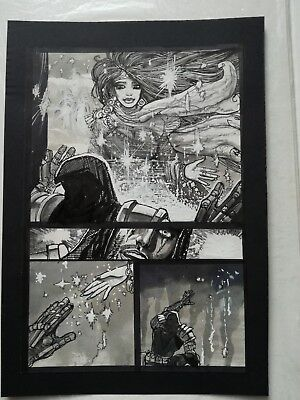 Simon Bisley original comic art Tower Chronicles half splash