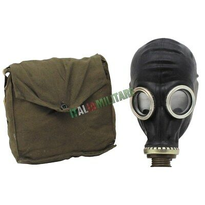 Maschera Antigas Militare Originale Russa GP5 Nera Anti Gas
