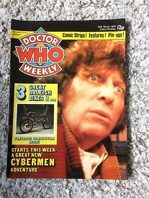 Doctor Who Weekly No5 Marvel Comic Nov 14th 1979 Dr Who