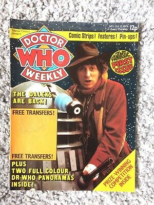 Doctor Who Weekly No1 Marvel Comic Oct 17th 1979 Dr Who 1st issue