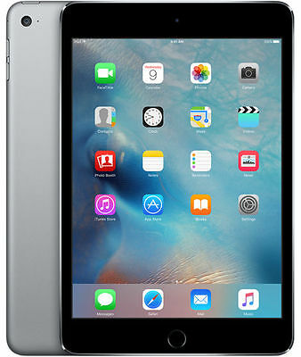 Apple iPad mini 4 128GB, Wi-Fi, 7.9in - Space Grey BRAND NEW APPLE WARRANTY