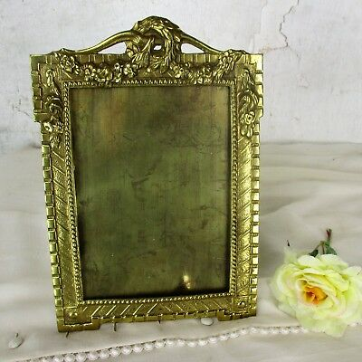 French antique Standing  Bronze Brass  picture frame Ornate Hollywood regency