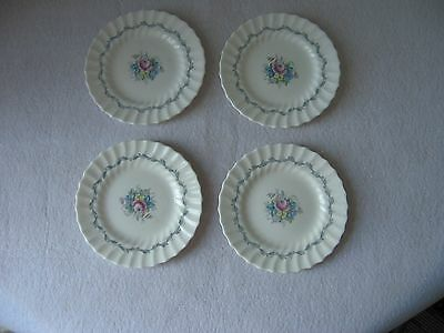 "Royal Doulton Bone China ""The Chelsea Rose"" 6 1/4"" Bread & Butter Plate Set of 4"