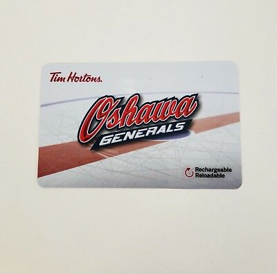 TIM HORTONS Gift Card ZERO $ Balance OSHAWA GENERALS, No Value