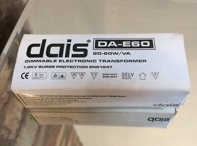 Dais DA-E60 20-60W/VA Dimmable Electronic Transformer