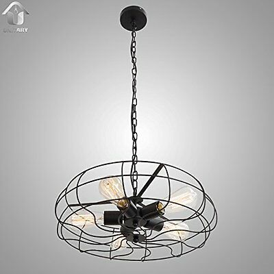 BRAND Vintage Barn Metal Hanging Ceiling Chandelier Max. 200W With 5 Lights