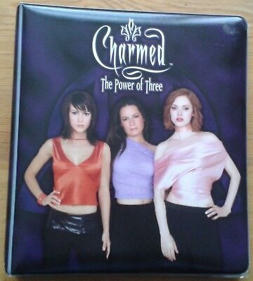 Charmed The Power of Three trading card binder & base set, 5 pieceworks & chase