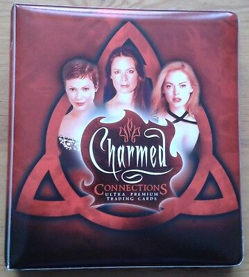 Charmed Connections trading card binder & base set, PW4 PW6 PW7, 5 promos...