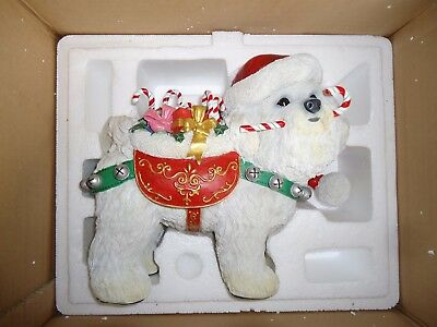 Danbury Mint Christmas Bichon Frise sculpture
