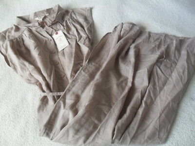 Ex Fat Face Anna Natural Pebble Lyocell Mid Length Belted Shirt Dress 8 10 12 14