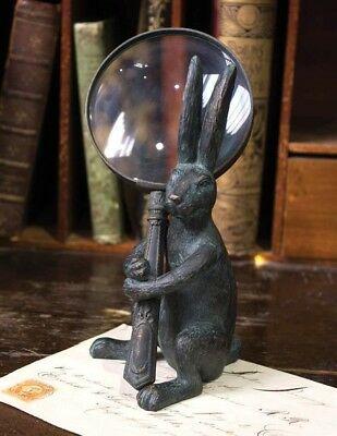 Victorian Trading Co Handy Hare Rabbit Magnifying Glass & Holder