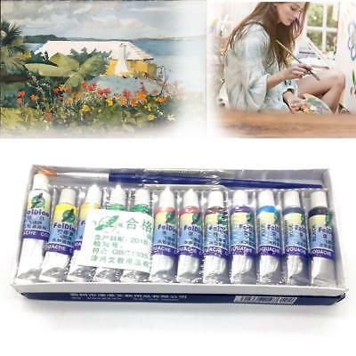 12 Color Acrylic Paint Set 5 ml Tubes Artist Draw Painting Pigment GA