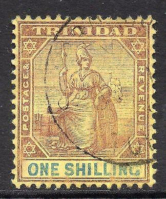 TRINIDAD SG142 1s Purple and Blue/Golden Yellow, Used