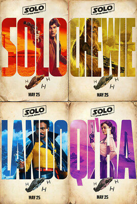 SOLO: A Star Wars Story Character Posters (SET OF 4)