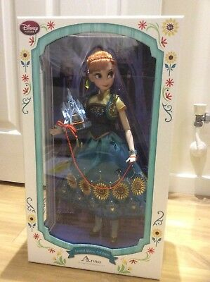 Disney Limited Edition Frozen Fever Anna Doll NEW