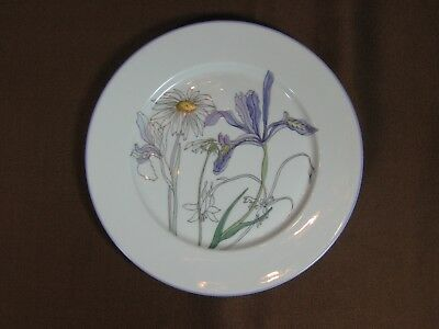 "Block Spal 1981 Watercolors 8"" Salad Plate Hillside by Mary Lou Goertzen"