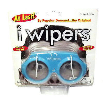 Blue iWipers Windsheild Wiper Flashing Lights Costume Glasses Goggles