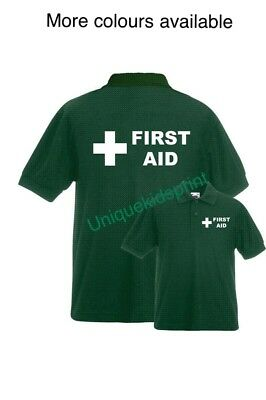 First Aid Unisex Men's/ladies Printed Polo-Shirt, Workwear, Jackets, Medical