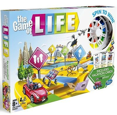 The Game Of Life Hasbro For 2 - 4 Players 8+ Years And Over  *brand New In Box*
